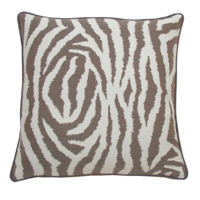 Zebra Indoor/Outdoor Throw Pillow (Set of 2) Color: Pebble, Size: 22 x 22