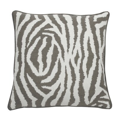 Zebra Indoor/Outdoor Throw Pillow (Set of 2) Color: Stone, Size: 20 x 20