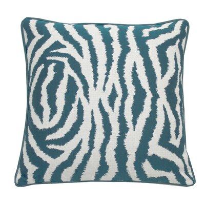 Zebra Indoor/Outdoor Throw Pillow (Set of 2) Color: Peacock, Size: 20 x 20