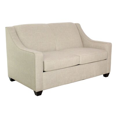 Phillips Loveseat Loveseat Finish: Montana Maple, Upholstery: Intersect Smoke