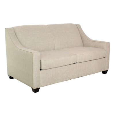 Phillips Full Sleeper Sofa Finish: Montana Maple, Upholstery: Deacon Black
