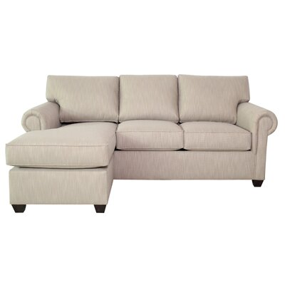 Deshawn Sectional with Ottoman Upholstery: Cherry