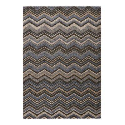 Portland Gray/Blue Area Rug Rug Size: 67 x 96