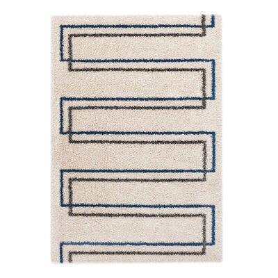 Ocean Beige/Blue Area Rug Rug Size: 53 x 77