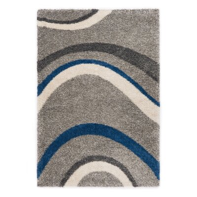 Ocean Gray/Blue Area Rug Rug Size: 53 x 77