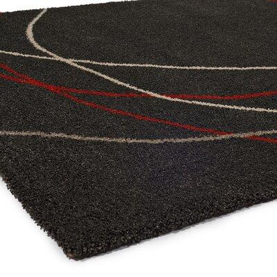 Portland Black Area Rug Rug Size: 67 x 96