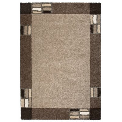 Granite Gray/Brown Area Rug Rug Size: 53 x 77
