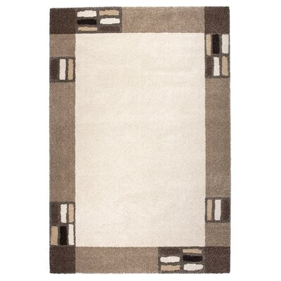 Granite Brown/Beige Area Rug Rug Size: 53 x 77