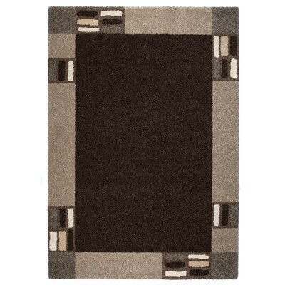 Granite Black/Gray Area Rug Rug Size: 53 x 77