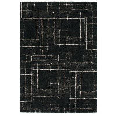 Market Black Area Rug Rug Size: 67 x 96