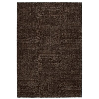 Granite Black Area Rug Rug Size: 53 x 77