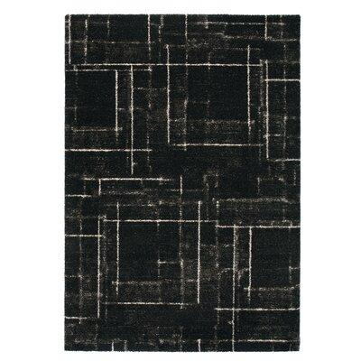 Market Black Area Rug Rug Size: 53 x 77