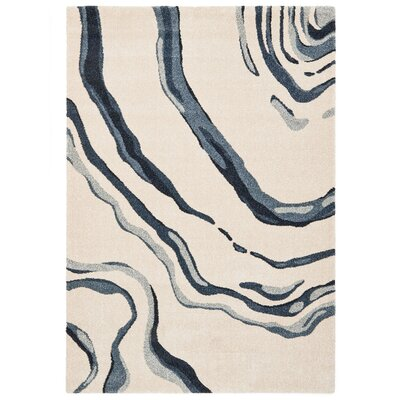 Downtown Beige Area Rug Rug Size: 67 x 96