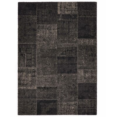 Downtown Black/Gray Area Rug Rug Size: 67 x 96