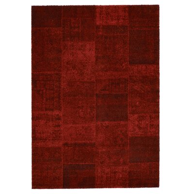 Downtown Red Area Rug Rug Size: 710 x 112