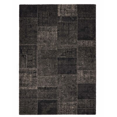 Downtown Black/Gray Area Rug Rug Size: 53 x 77