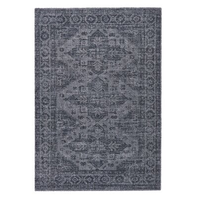 Downtown Gray Area Rug Rug Size: 53 x 77