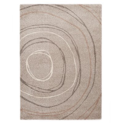 Country Ripple Light Beige Area Rug Rug Size: 710 x 112