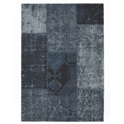 Downtown Blue Area Rug Rug Size: 53 x 77