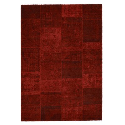 Downtown Red Area Rug Rug Size: 53 x 77