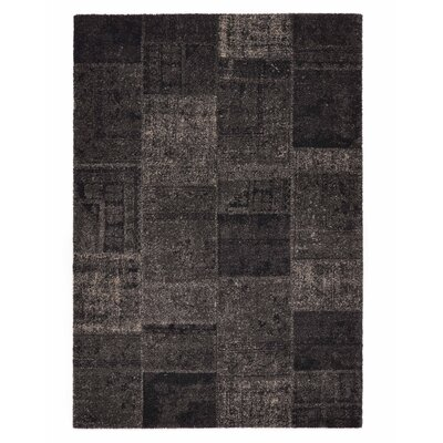 Downtown Black/Gray Area Rug Rug Size: 710 x 112