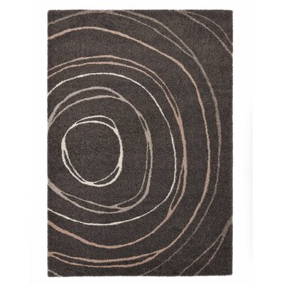 Country Ripple Dark Gray Area Rug Rug Size: 710 x 112