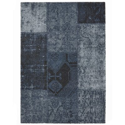Downtown Blue Area Rug Rug Size: 67 x 96