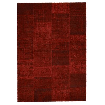 Downtown Red Area Rug Rug Size: 67 x 96