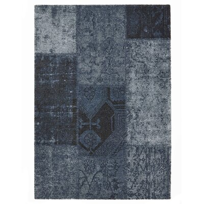 Downtown Blue Area Rug Rug Size: 710 x 112