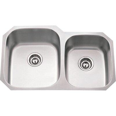 32 x 24.75 Double Bowl 16 Gauge 60/40 Stainless Steel Undermount Kitchen Sink