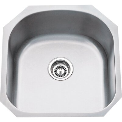 19.75 x 20.5 Single 18 Gauge Stainless Steel Undermount Utility Sink