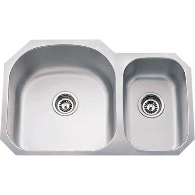 31.5 x 20.5 Double Bowl 18 Gauge 70/30 Stainless Steel Undermount Kitchen Sink