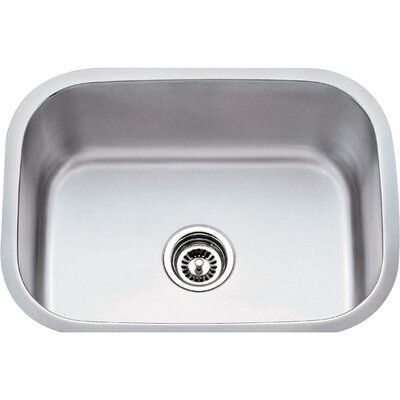 23.5 x 17.75 Single 18 Gauge Stainless Steel Undermount Utility Sink
