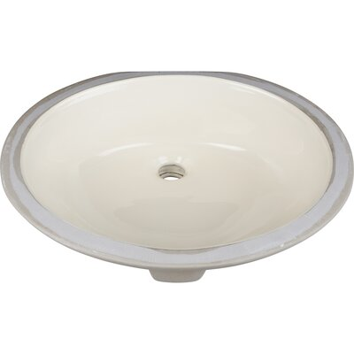 Oval Undermount Bathroom Sink Finish: Parchment
