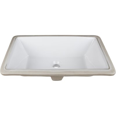 Ceramic Rectangular Undermount Bathroom Sink