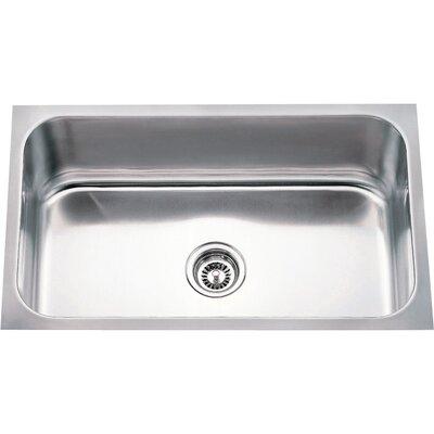 30 x 18 Single 18 Gauge Stainless Steel Undermount Utility Sink