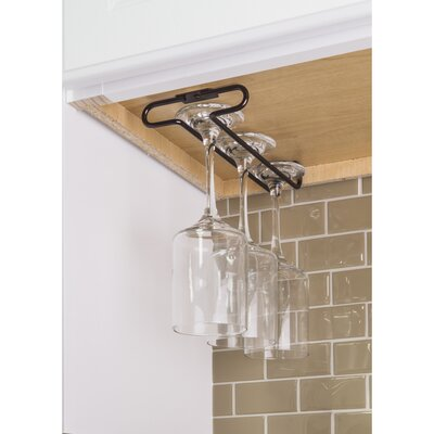 Under Cabinet Hanging Wine Glass Rack Color: Brushed Oil Rubbed Bronze