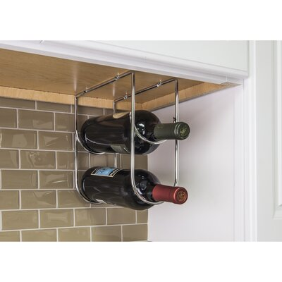 Under Cabinet 2 Bottle Wine Bottle Rack Color: Chrome