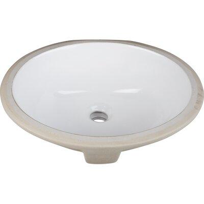 Ceramic Oval Undermount Bathroom Sink Finish: White