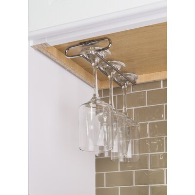 Under Cabinet Hanging Wine Glass Rack Color: Chrome