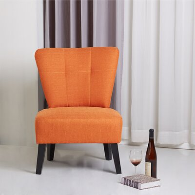 Maddie Modern Contemporary Slipper Chair Finish: Orange