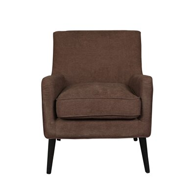 Kristina Mid Century Modern Arm Chair Finish: Walnut Brown