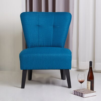 Maddie Modern Contemporary Slipper Chair Finish: Blue