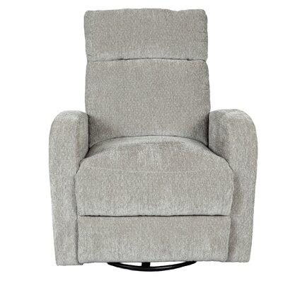 Glenn Chenille Wireless Power Swivel Rocking Recliner Upholstery: Aluminum Silver