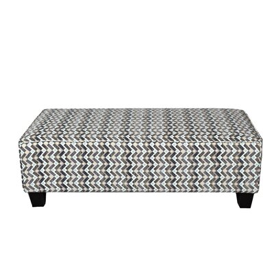 Noelle Woven Zig Zag Rectangular Cocktail Ottoman