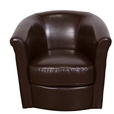 Marvel Swivel Barrel Chair Color: Espresso Brown