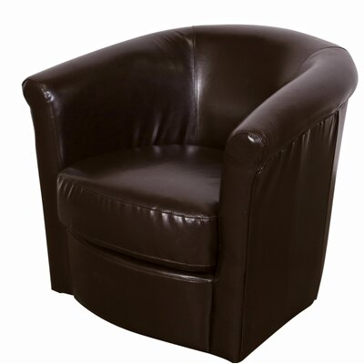Marvel Swivel Barrel Chair Upholstery: Espresso Brown