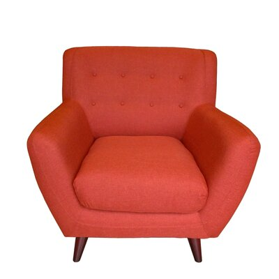 Conor Armchair Color: Pumpkin Orange