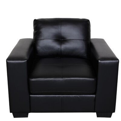 Wilkinson Club Chair Upholstery: Black