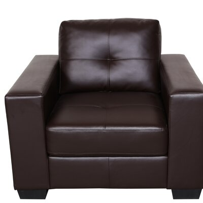 Wilkinson Club Chair Upholstery: Brown